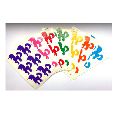 Rainbow Unicorn Stickers - Set of 7 colours