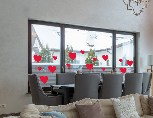 27 Heart Bundle Window/Wall Stickers - Valentines Gift Sticker