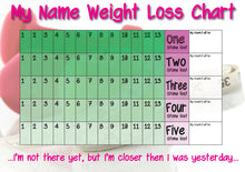 Load image into Gallery viewer, Personalised 5 Stone Weight Loss Chart with Stickers and Pen