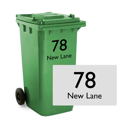 Wheelie Bin House Number Sticker