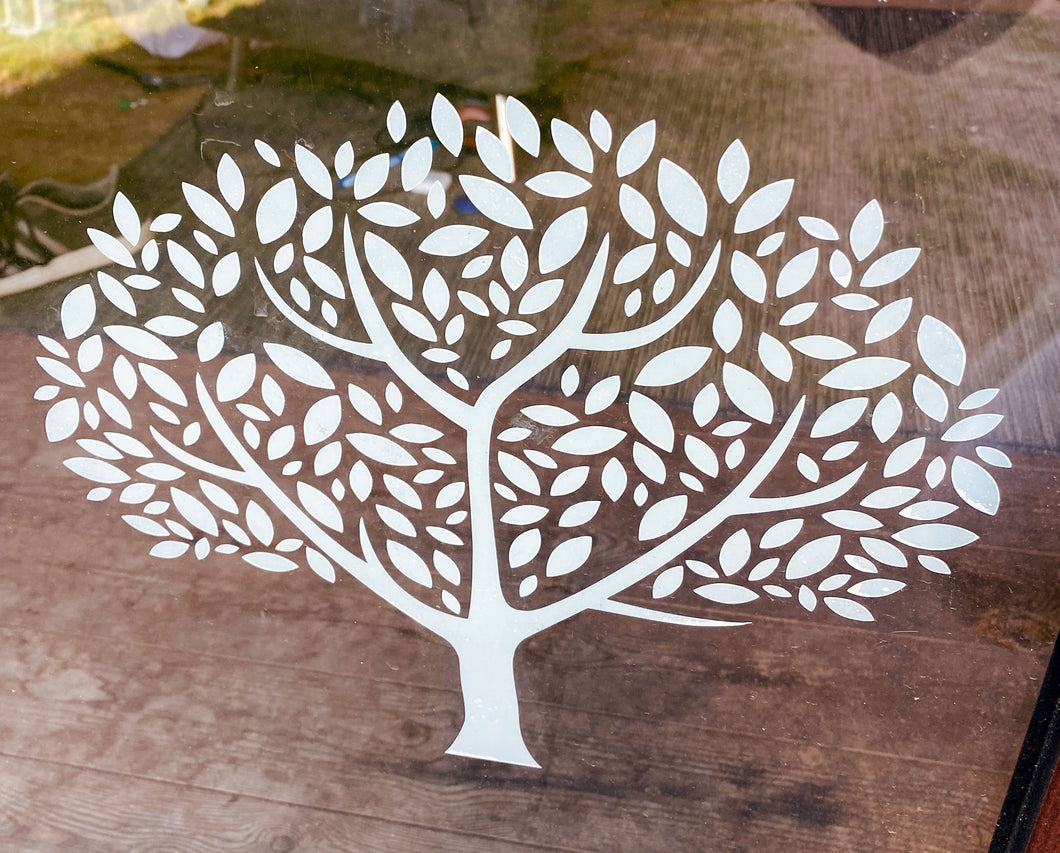 Tree Vinyl Sticker - Create Window, Wall or Glass Display - 7 Colours to Choose from