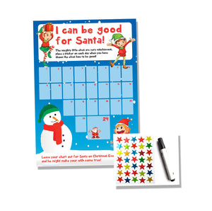 Christmas Reward Chart - Kids Children Good Behaviour Xmas Countdown Tracker