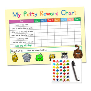 potty / toilet training reward chart