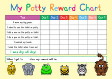 Load image into Gallery viewer, potty / toilet training reward chart
