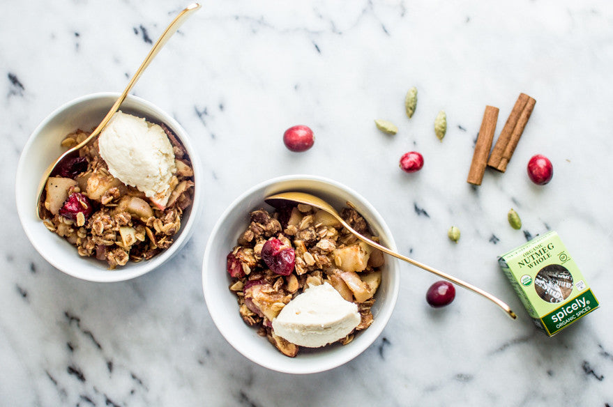 Spiced Apple and Cranberry Crumble