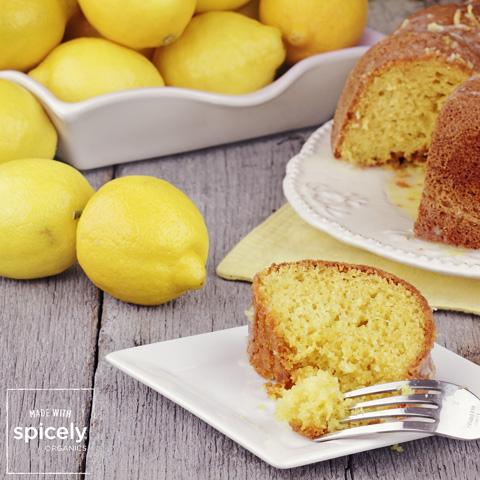 Chai Infused Lemon Cake