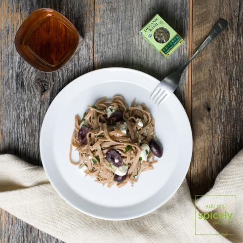 Whole Wheat Linguine with Feta & Olives