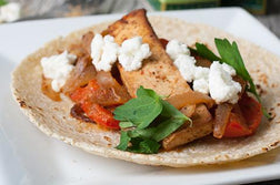 Grilled Tofu & Red Pepper Tacos