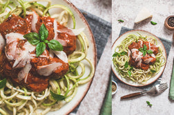 Courgetti with Meatballs