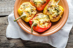 Grilled Bell Peppers Stuffed w/ Vegetables