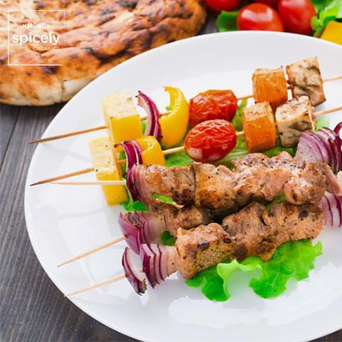 Pork & Vegetable Shish Kabobs