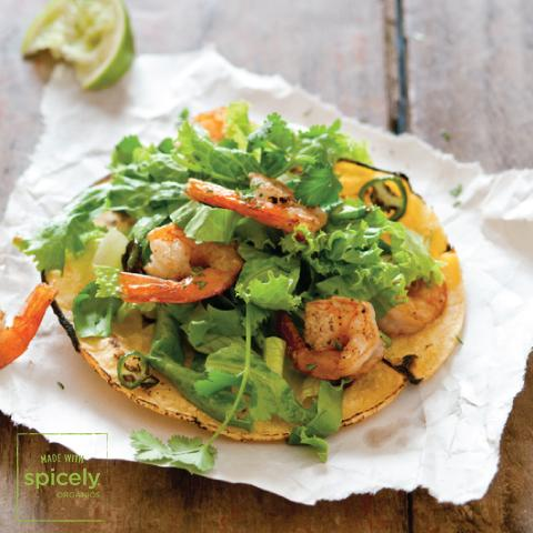 Grilled Shrimp Tostadas
