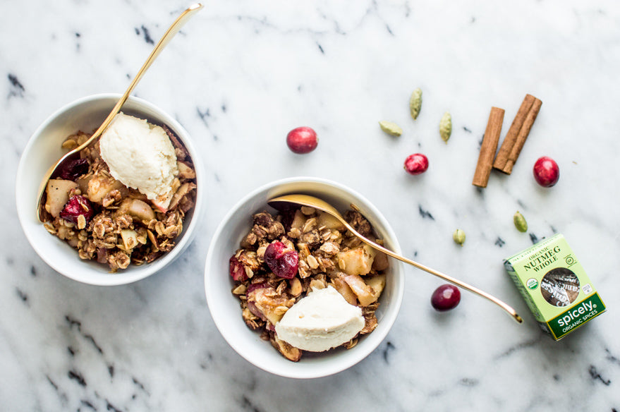 Spice Apple and Cranberry Crumble by Lisa Lin for Spicely Organics