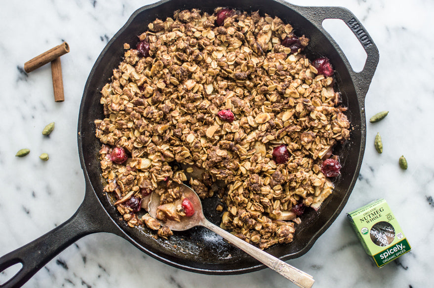 Spiced Apple and Cranberry Crumble by Lisa Lin for Spicely Organics