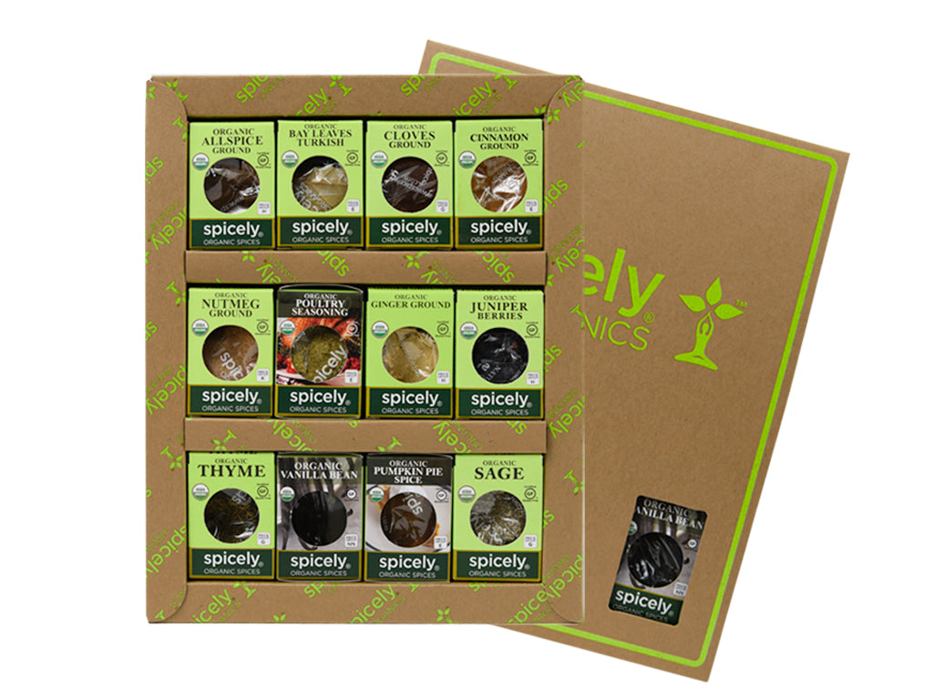 Traditional Holiday: Spicely Organics 12PK Ecobox Gift Set- Organic & Gluten Free