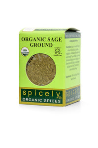 Organic Sage, Ground - Spicely Organics  - 6