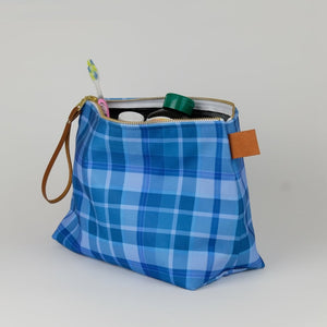 Plaid Travel Pouch