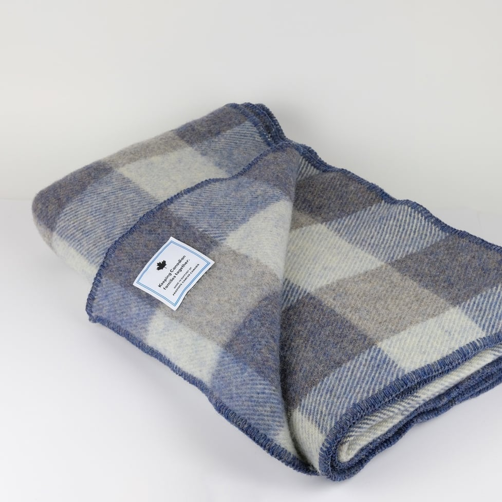 Plaid Wool Throw