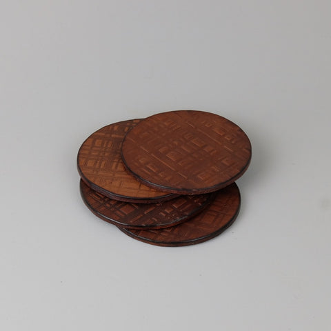 Plaid Leather Coasters