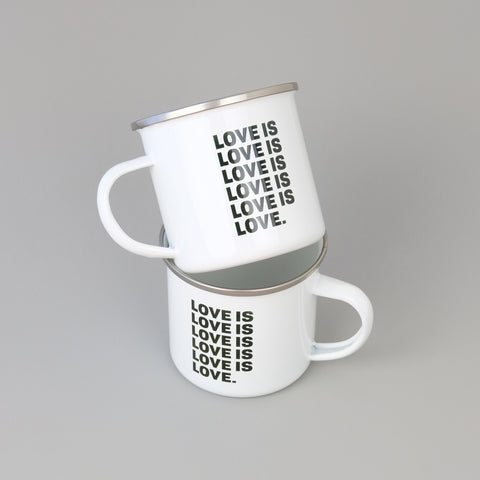Love Is Love Steel Cabin Mug