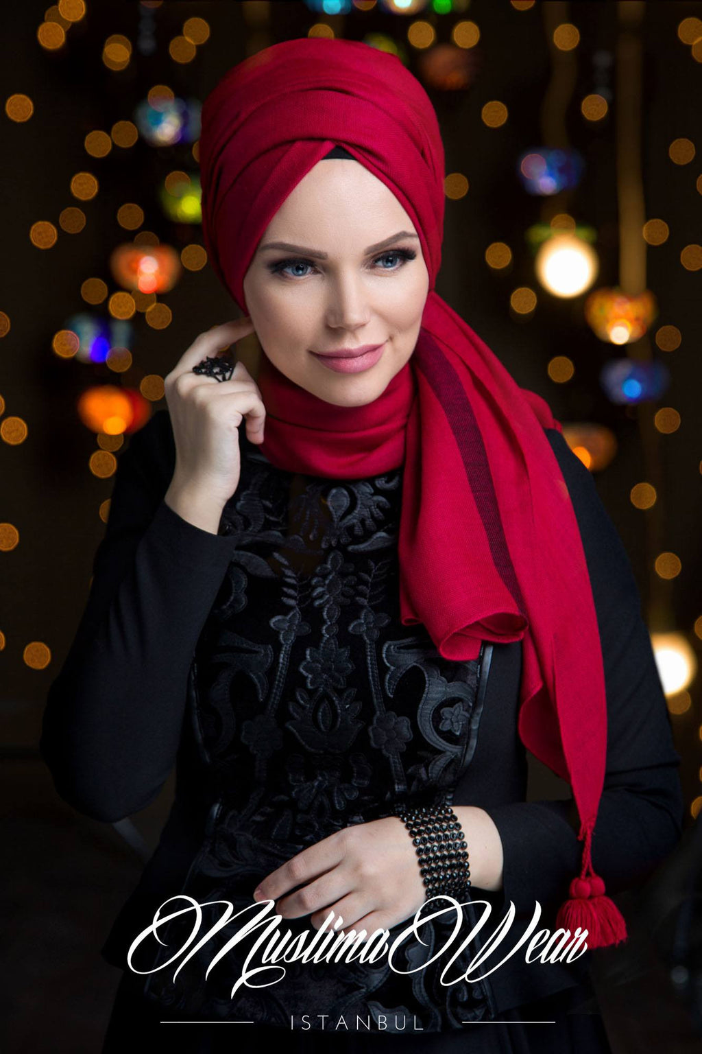 Queen Hijab Raspberry Red