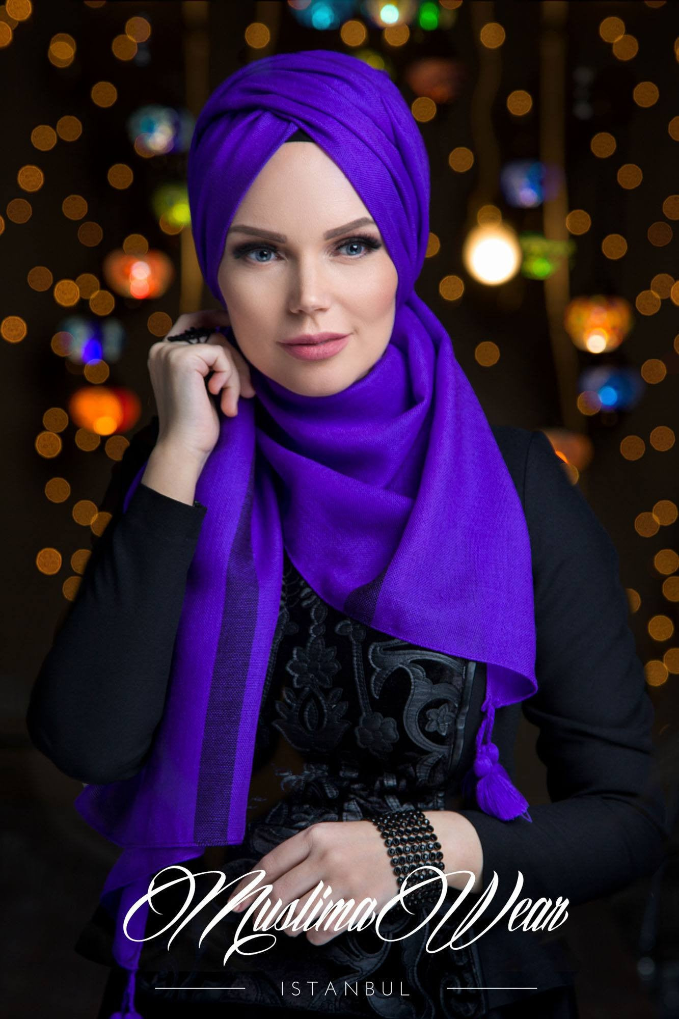 Queen Hijab Violette - Muslima Wear 3
