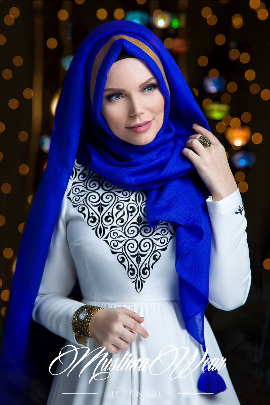 Queen Hijab Royal Blue