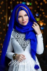Queen Hijab Royal Blue - Muslima Wear 1