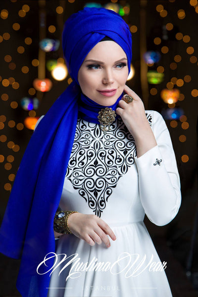 Queen Hijab Royal Blue - Muslima Wear