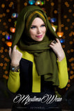 Queen Hijab Khaki Green - Muslima Wear 3