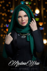Queen Hijab Emerald Green - Muslima Wear 4