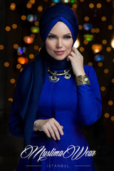 Muslima Wear Queen Hijab Navy Blue 2