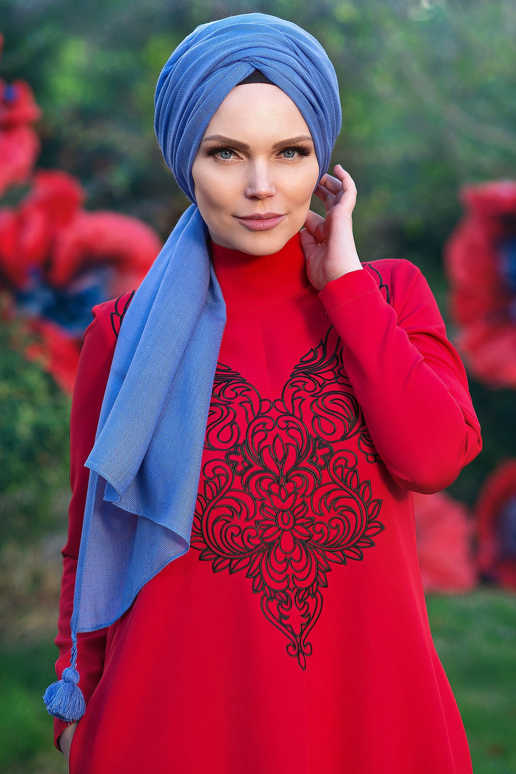 Muslima Wear Diadema Dress Red 1