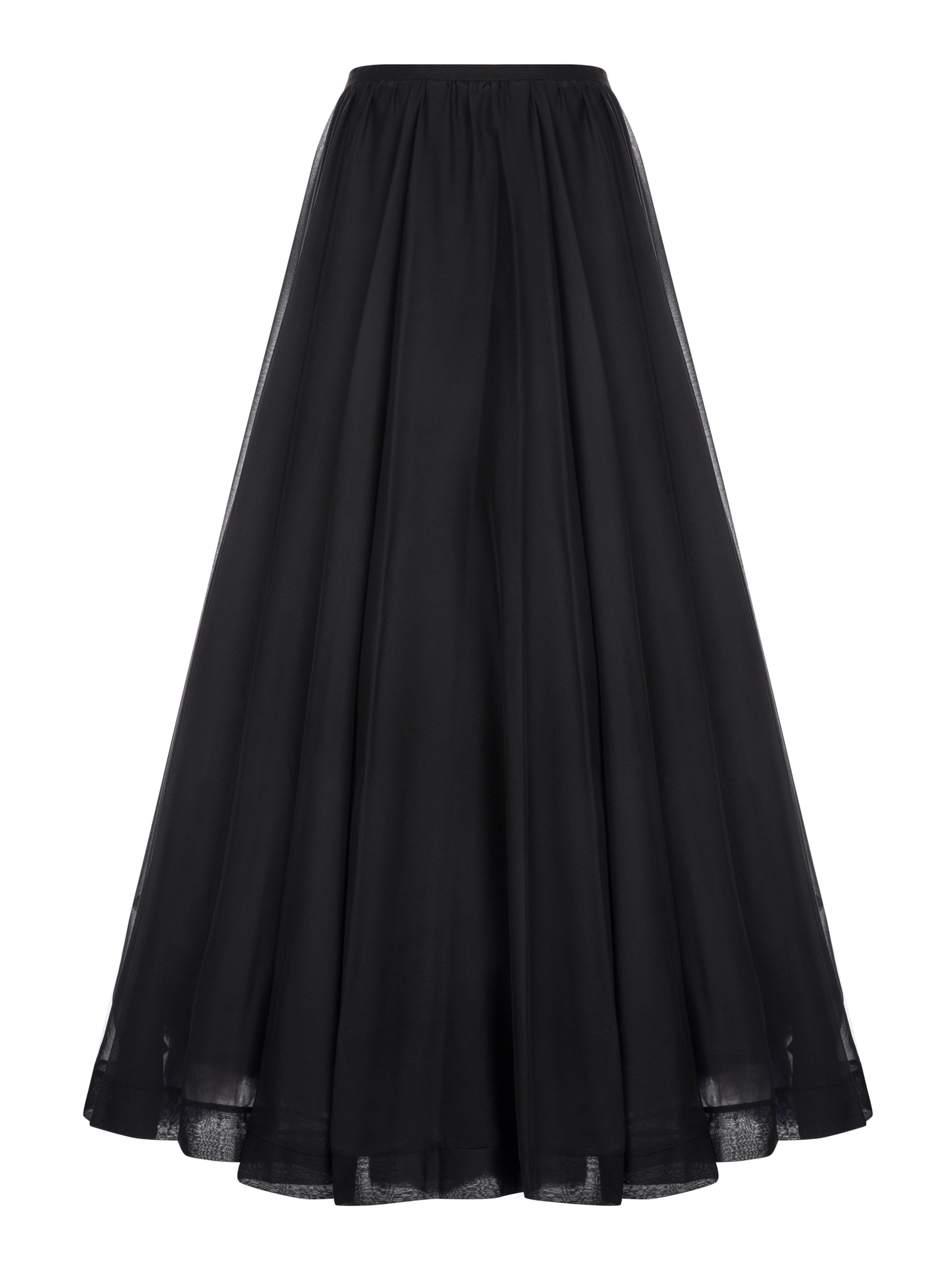 Muslima Wear Black Skirt