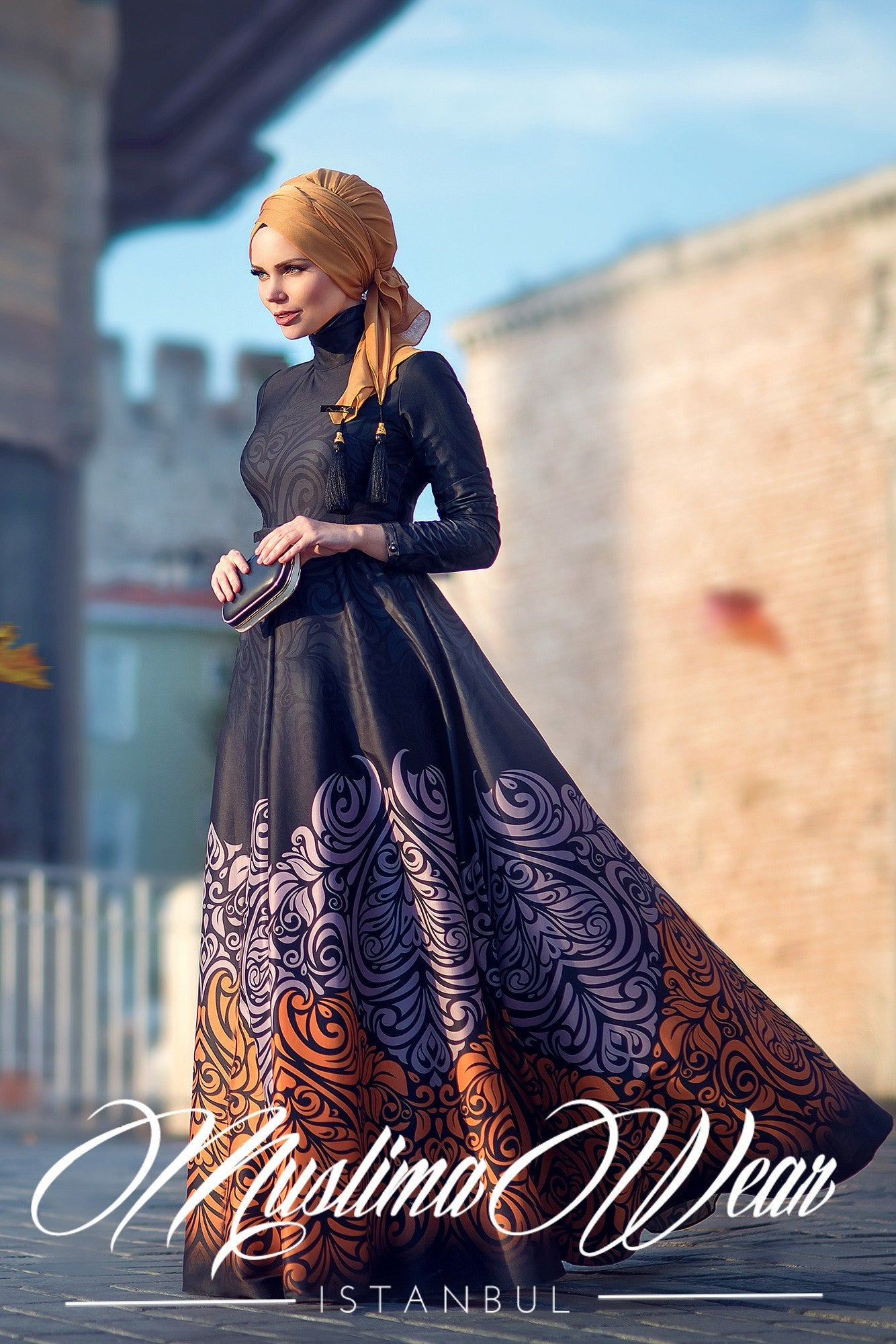Muslima Wear-2016 Golden Fall Dress - Muslima Wear