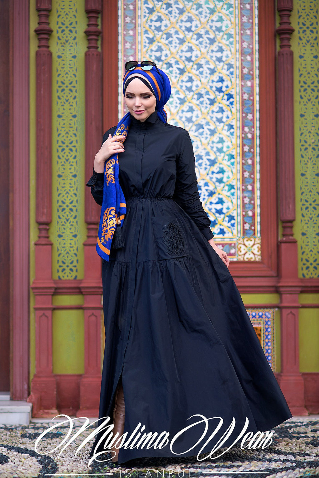 Muslima Wear Blazer Black Dress 2