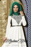Muslima Wear Hijab with tassels Green