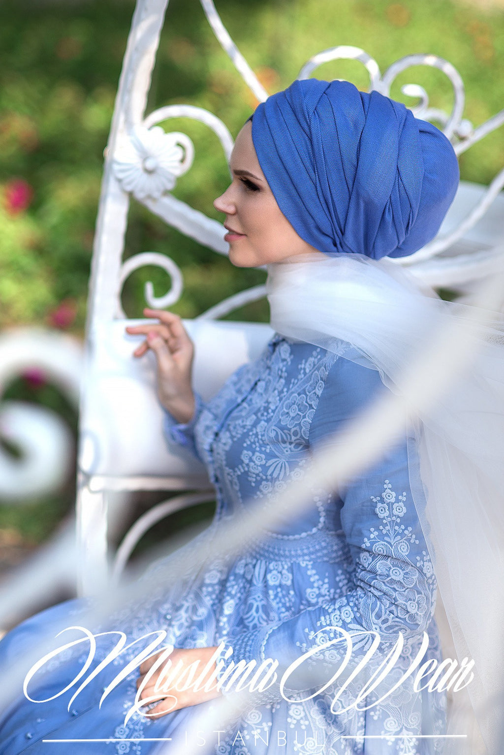 Queen Hijab Emerald Indigo Blue - Muslima Wear 2