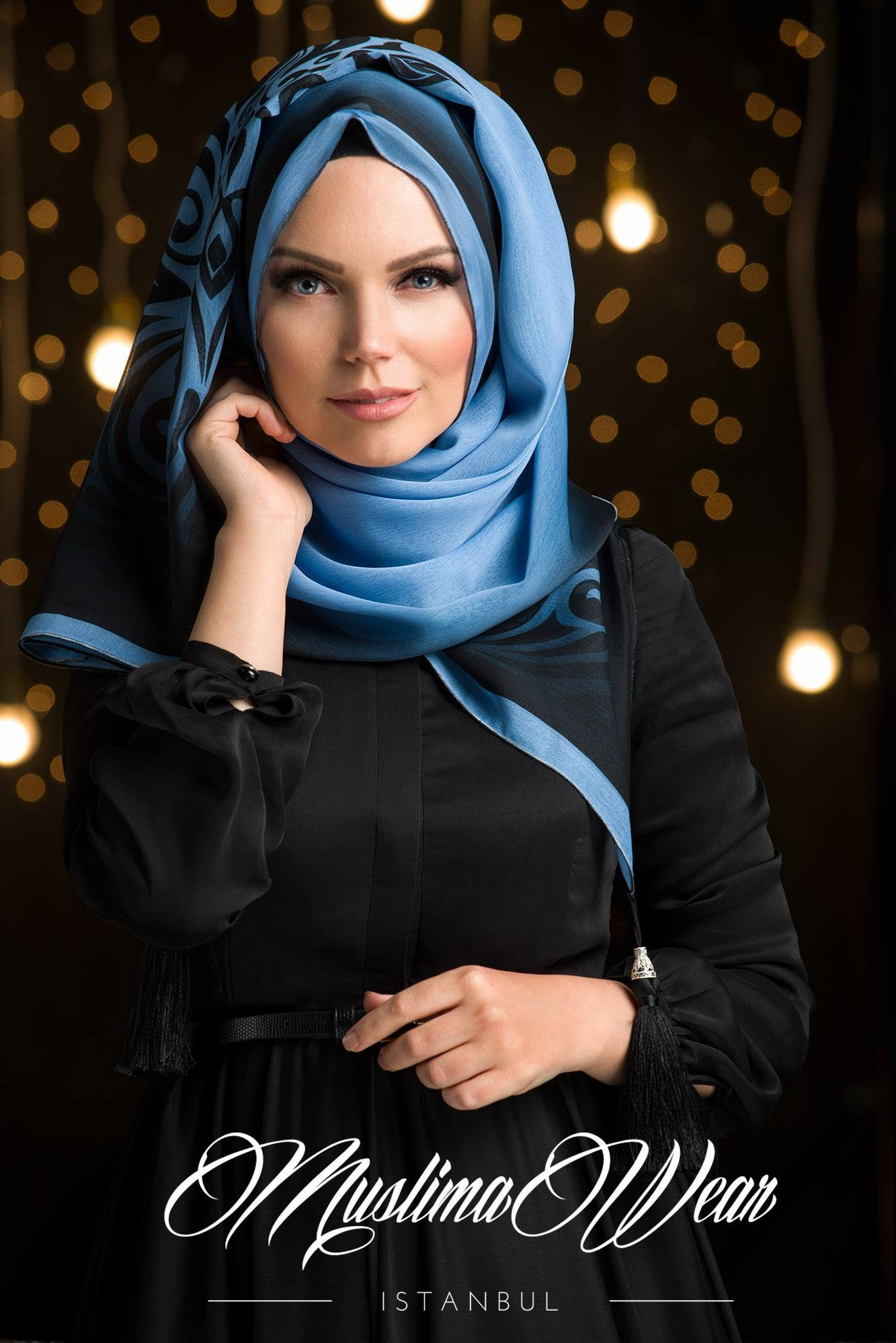 Muslima Wear Sultan Hijab Mist Blue