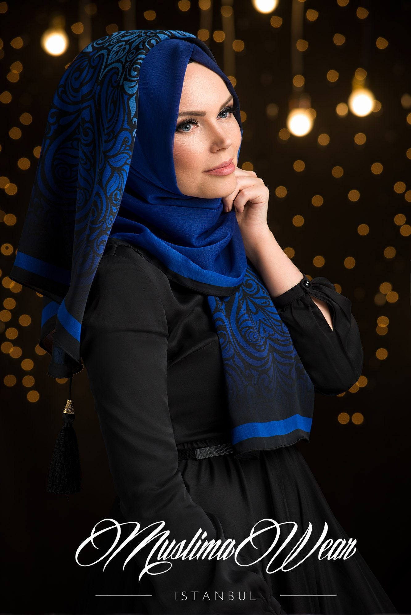 Sultan Hijab Blue Night - Muslima Wear