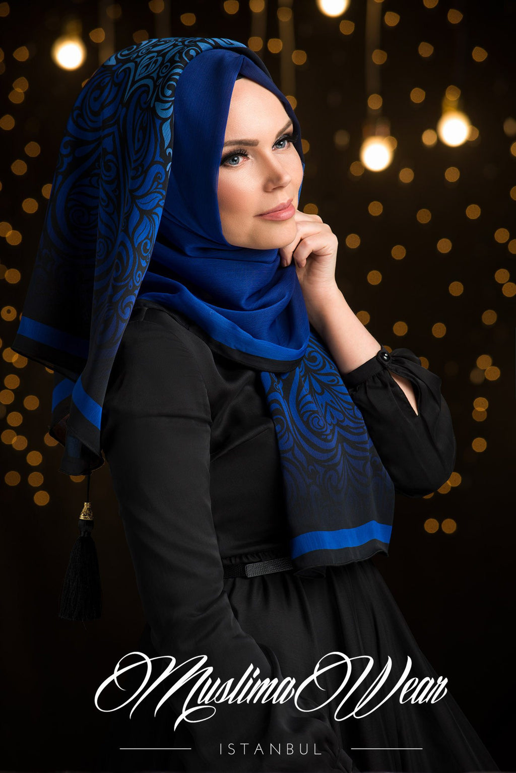 Sultan Hijab Blue Night
