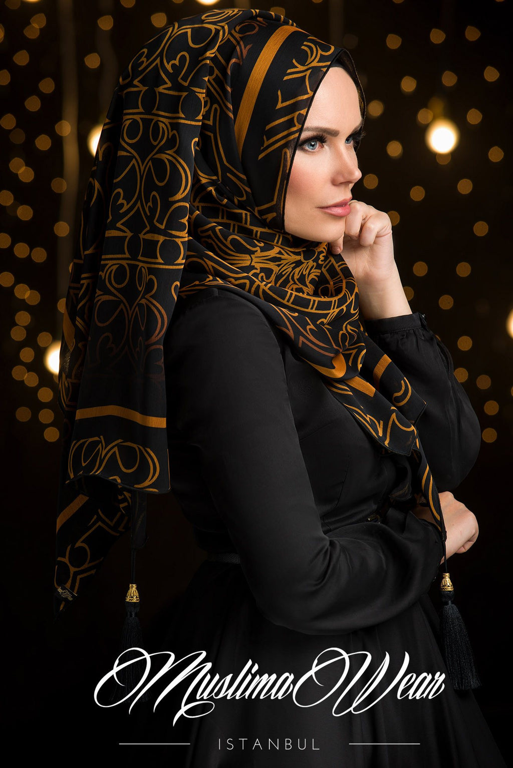 Sultan Hijab Golden Pattern