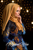 Muslima Wear Hijab with tassels Gold