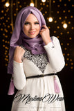 MW Hijab with Tassels Color: Lily - Muslima Wear