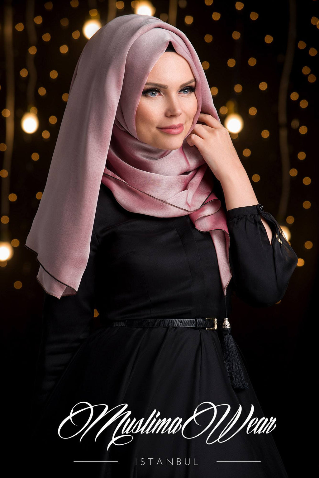 MW Hijab with Tassels Color: Rose Vizon