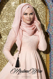 MW Hijab with Tassels Color: Poudre