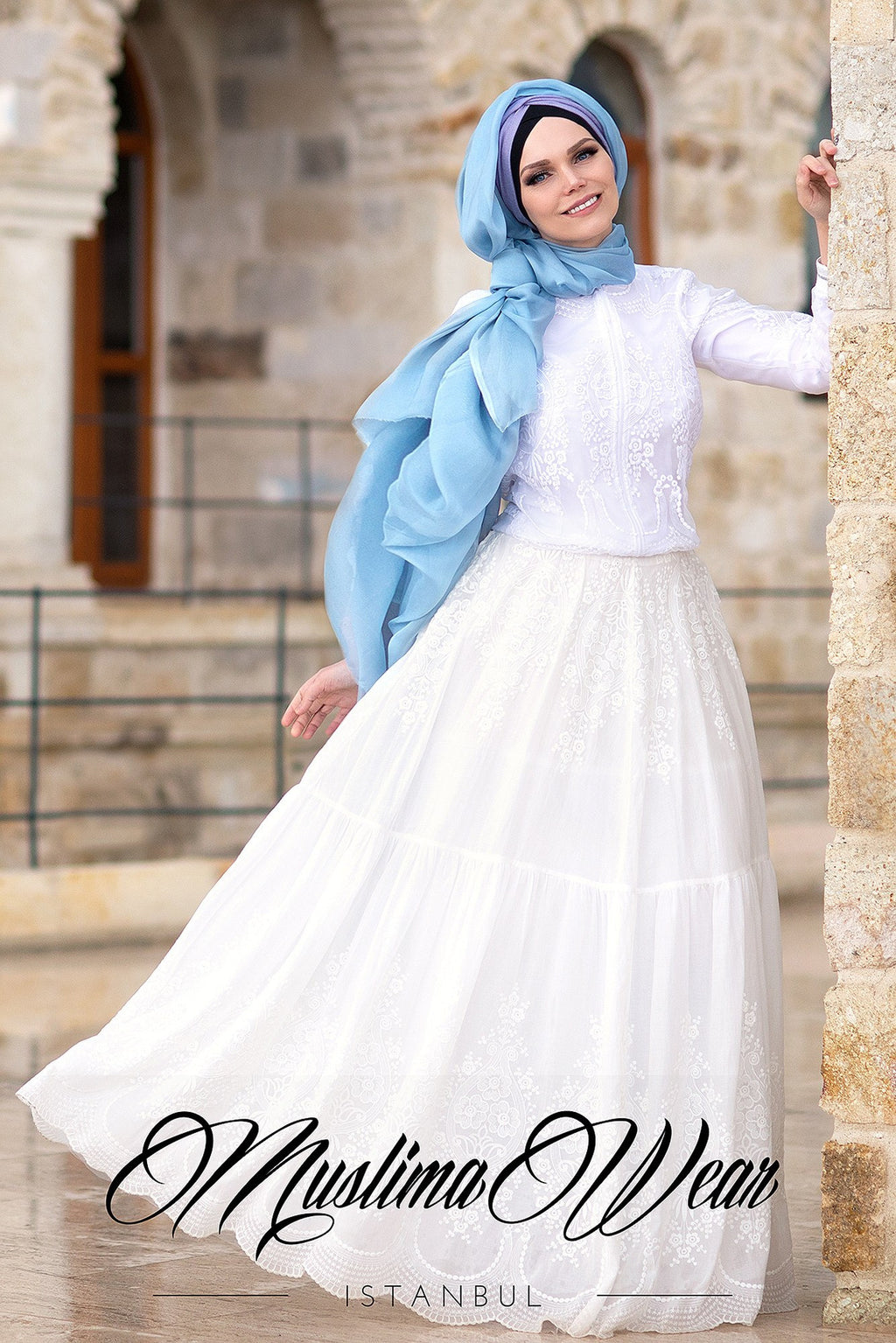 Muslima Wear skirt dream white