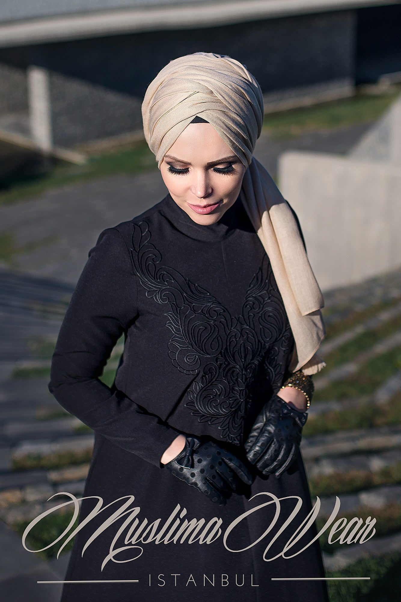 Muslima Wear Diadema Dress Black