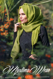 Muslima Wear Queen Hijab Lime Green 1