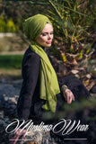 Muslima Wear Queen Hijab Lime Green 3